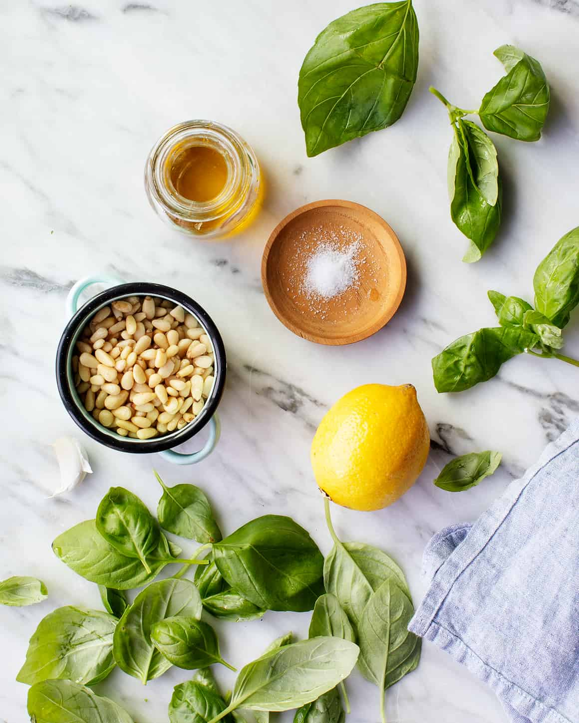 Pesto Recipe ingredients