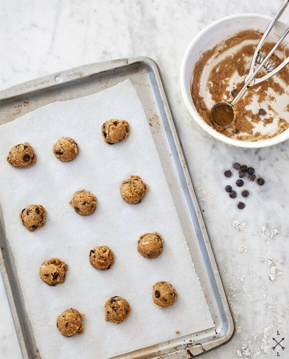 Gluten-free cookies on a baking sheet
