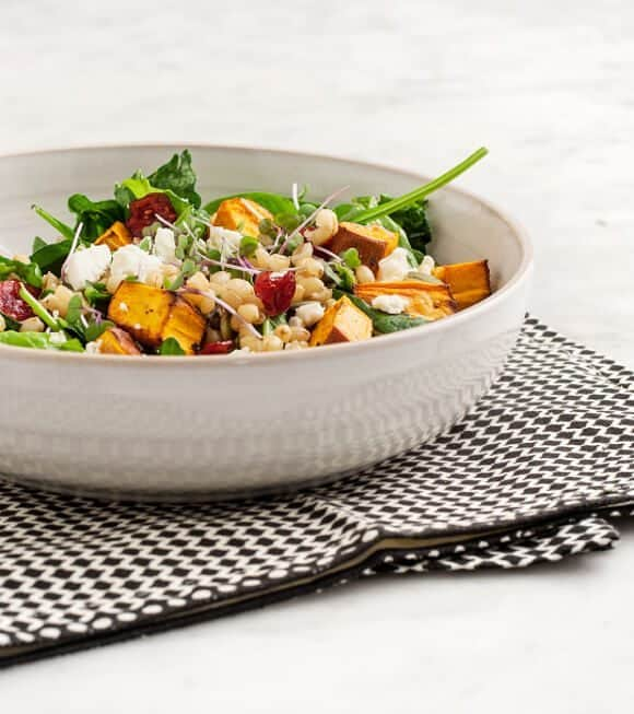 roasted sweet potato & cranberry salad