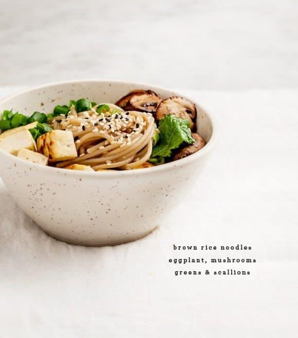 ginger miso eggplant noodles