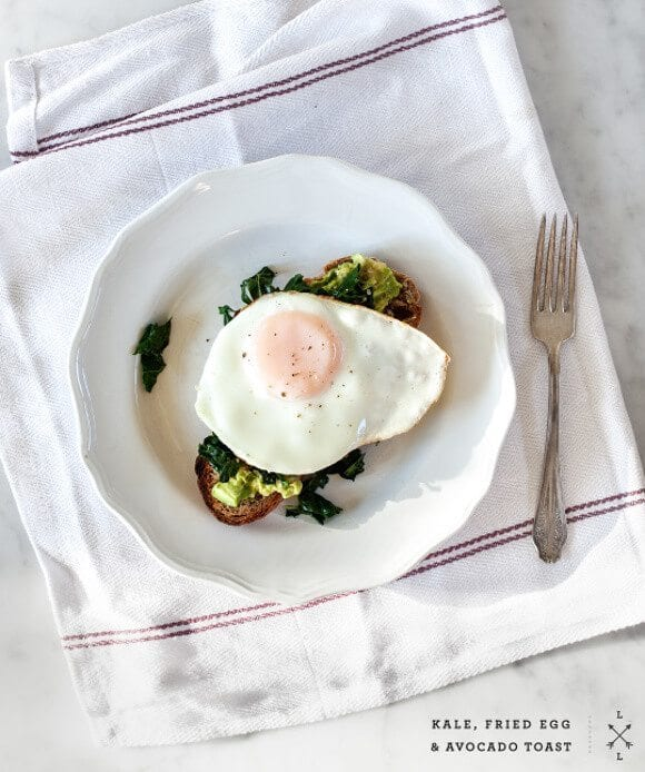Kale, egg & avocado toast / Love & Lemons