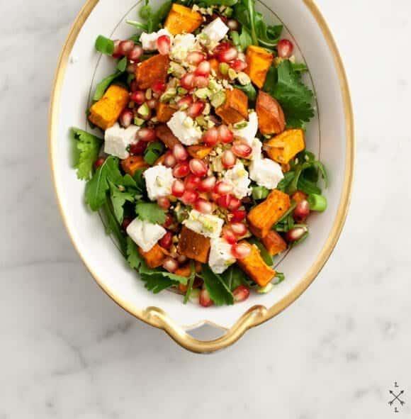 Sweet Potato & Pomegranate Salad // loveandlemons.com