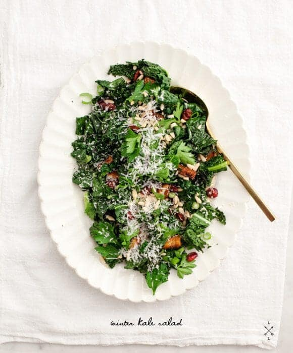 Winter Roasted Kale Salad Recipe