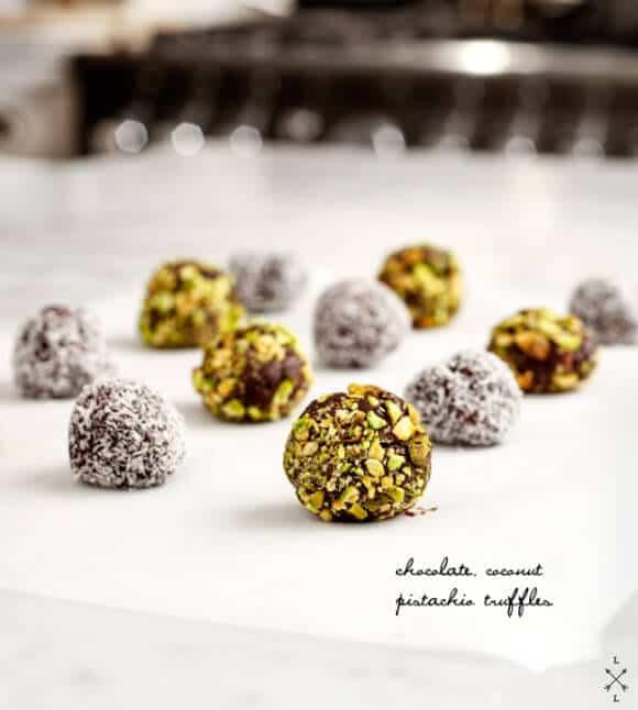 Pistachio Coconut Vegan Truffles