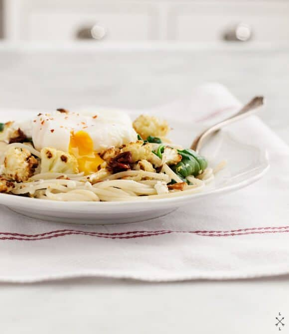 Roasted Cauliflower Pasta