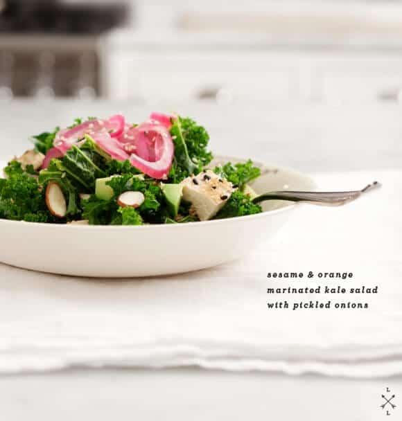 Sesame & orange miso marinated kale salad // loveandlemons.com