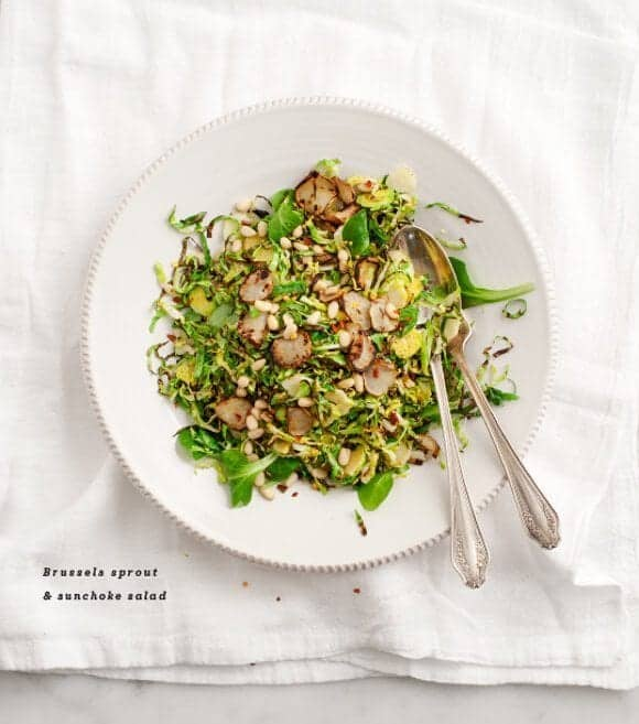 Brussels sprout & sunchoke salad