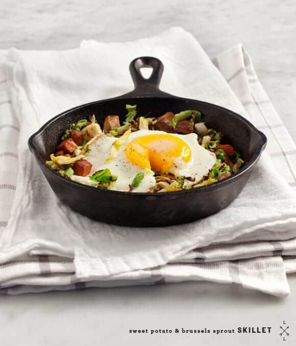 Sweet Potato & Brussels Sprout Skillet