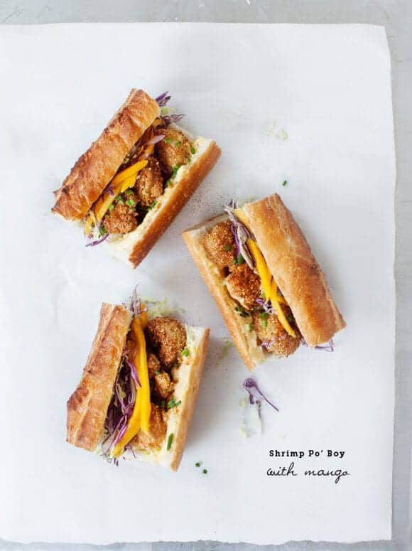 shrimp po' boy with spicy mango / loveandlemons.com