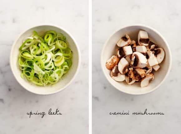creamy leek & almond pasta