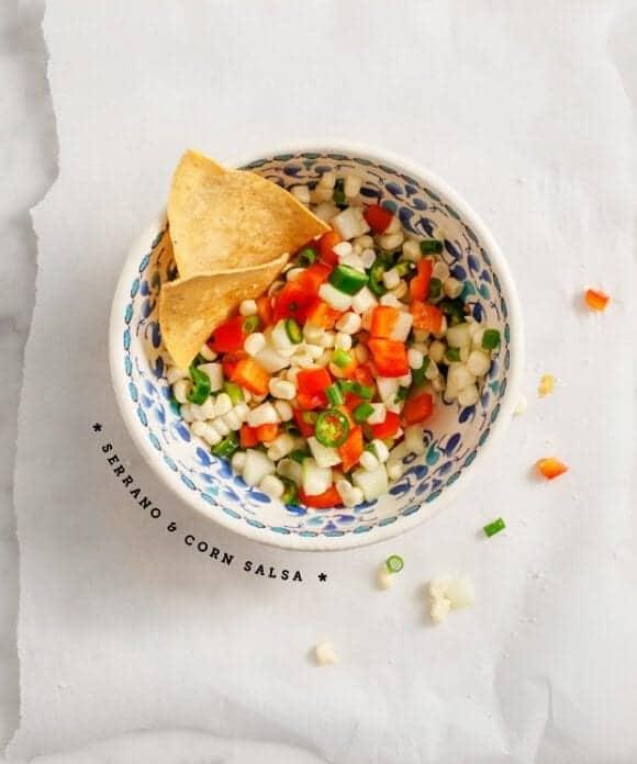 serrano and corn salsa // loveandlemons.com