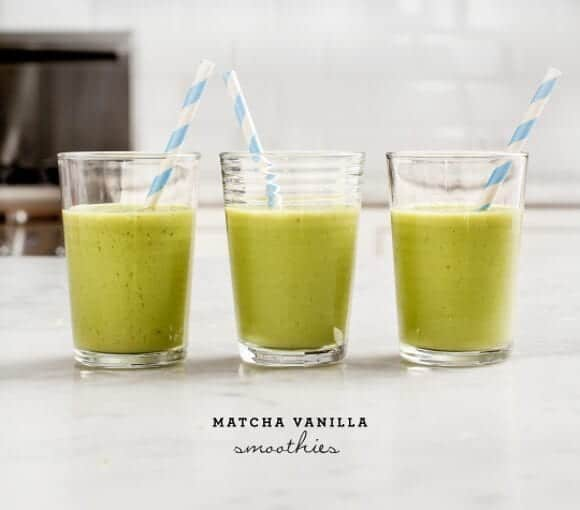 Matcha Vanilla Smoothies Recipe