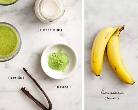 Vanilla Matcha Smoothie recipe ingredients
