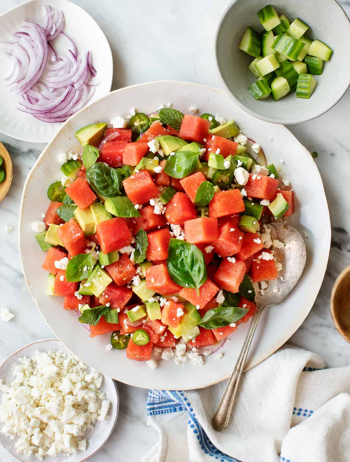 Watermelon Salad with Feta and Mint