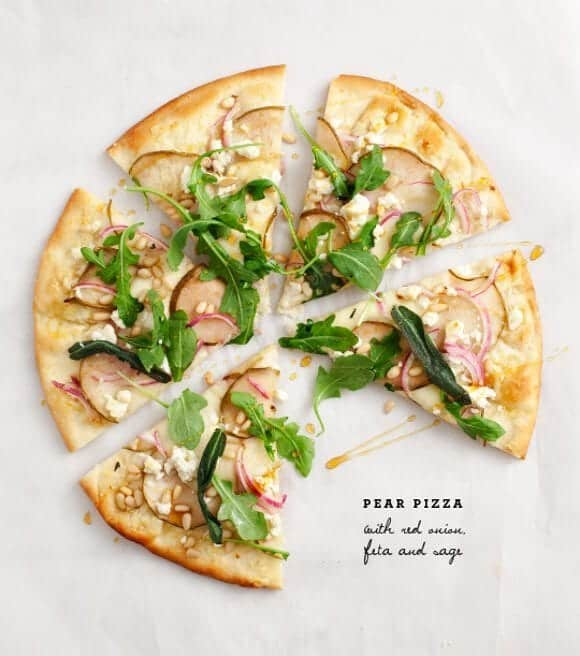 pear pizza with fried sage / loveandlemons.com