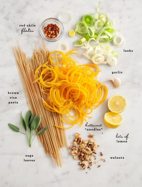 Pasta with Butternut Squash Noodles