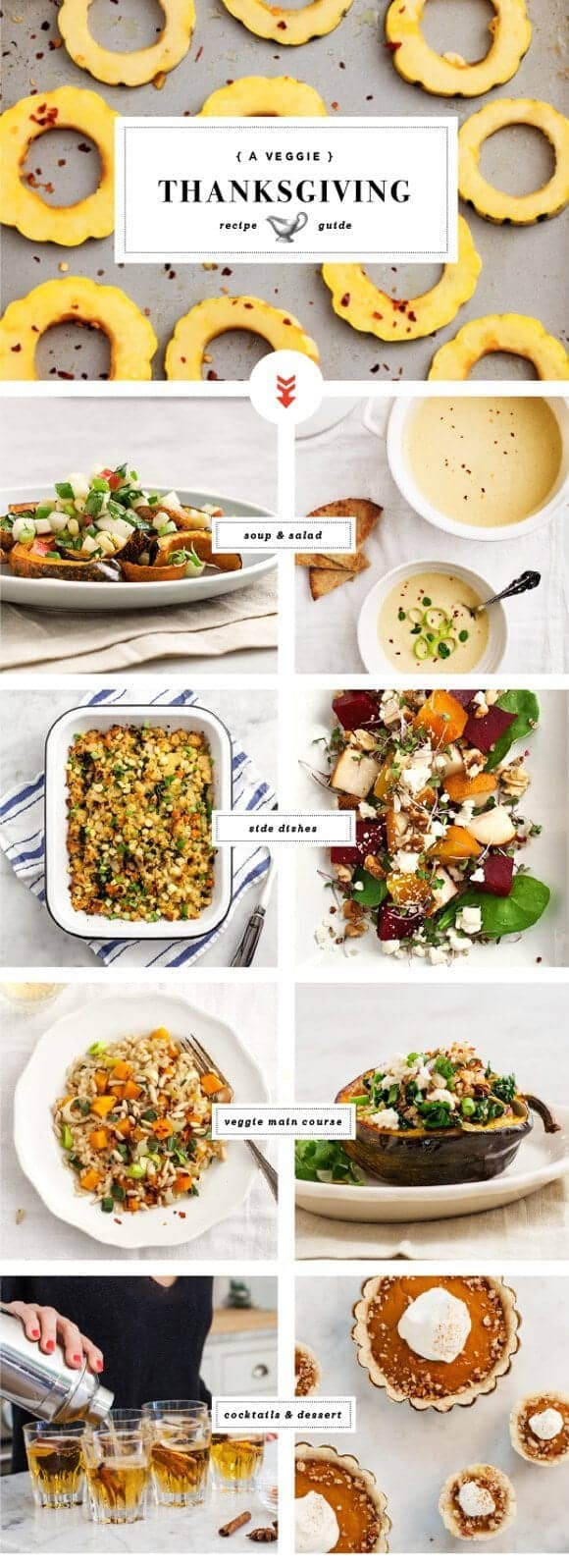 a veggie thanksgiving recipe guide / loveandlemons.com