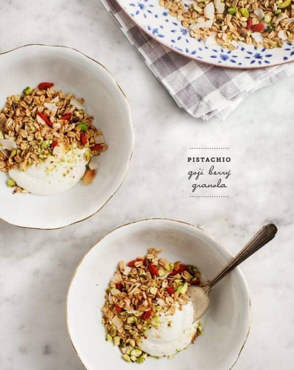 pistachio goji berry granola