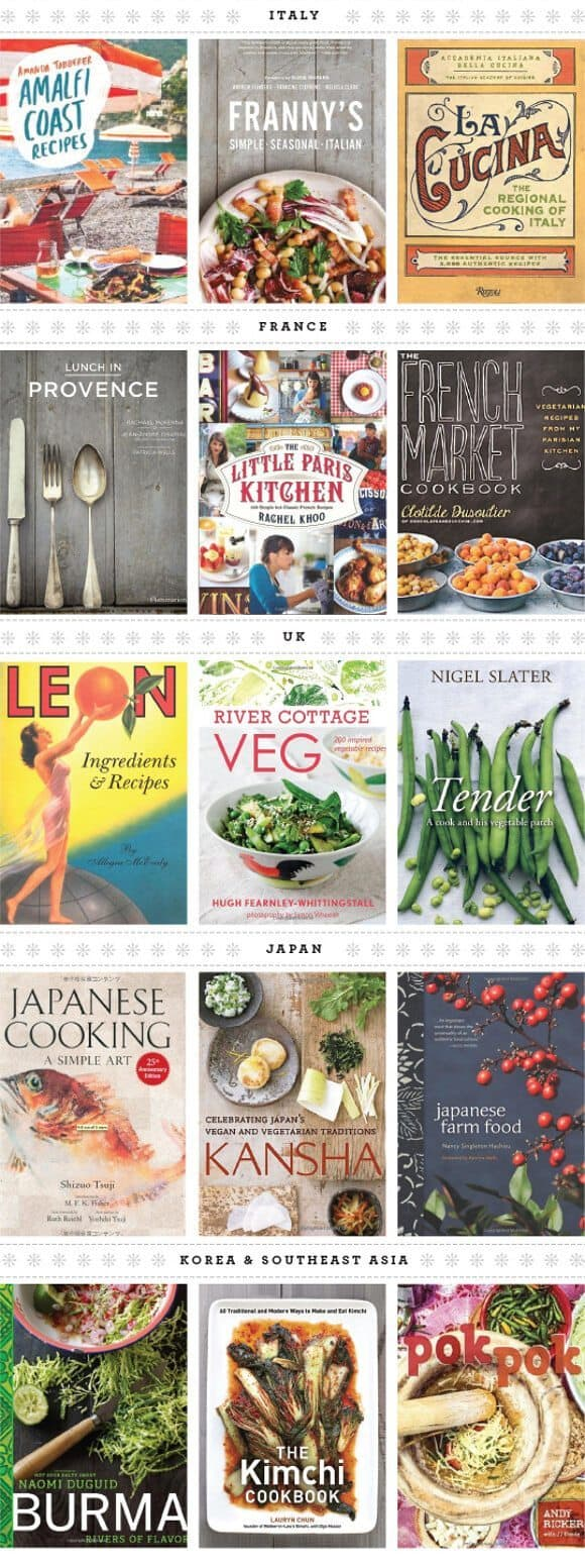 favorite cookbooks, by region / loveandlemons.com
