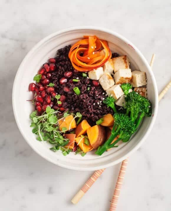 chili-orange veggie bowl
