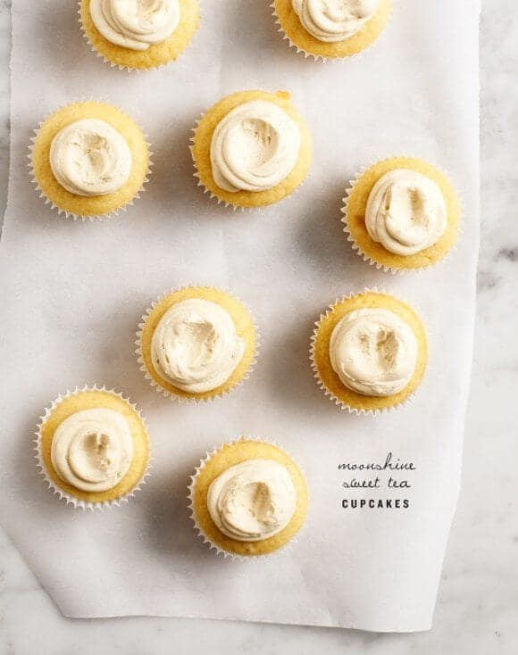 moonshine sweet tea cupcakes / @loveandlemons