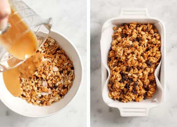 peanut butter crispy treats (vegan, gluten free) / @loveandlemons