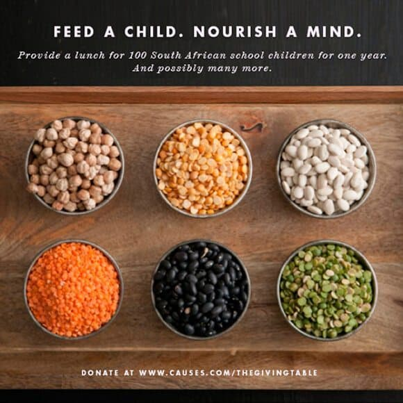 Feed a child. Nourish a mind.