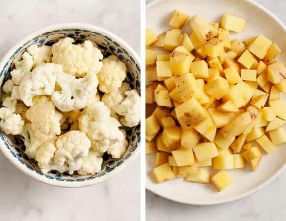 aloo gobi-ish (potato and cauliflower curry) / loveandlemons.com