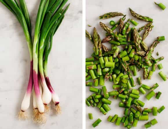 Spring Onion Asparagus Frittata