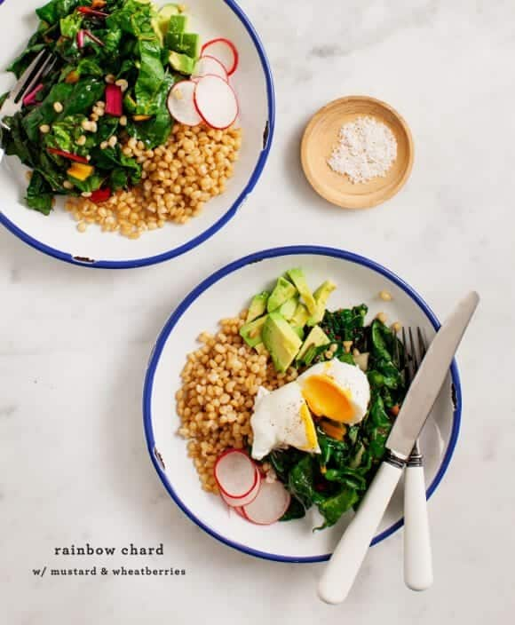 rainbow chard and wheatberries / loveandlemons.com