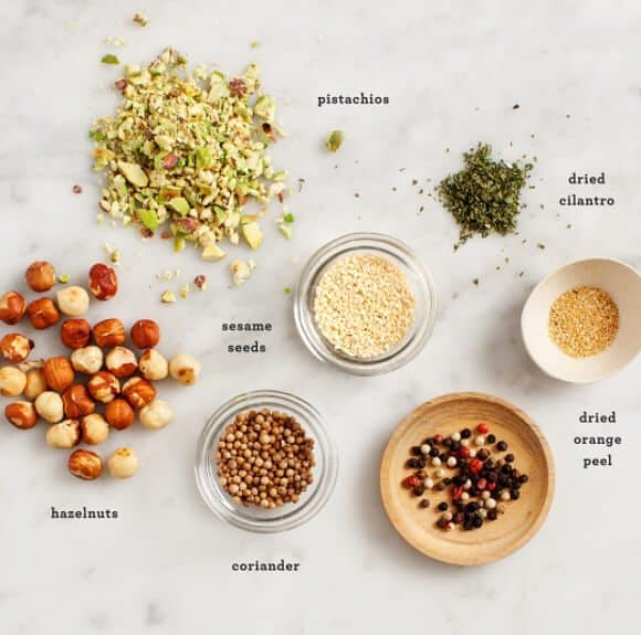 Dukkah recipe ingredients