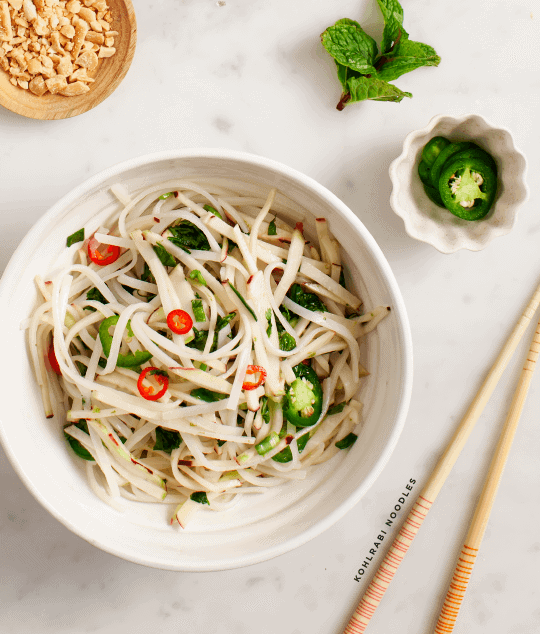 Spicy Kohlrabi Noodles Recipe Love And Lemons