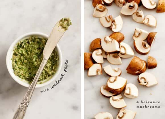 walnut pesto & balsamic mushrooms / loveandlemons.com