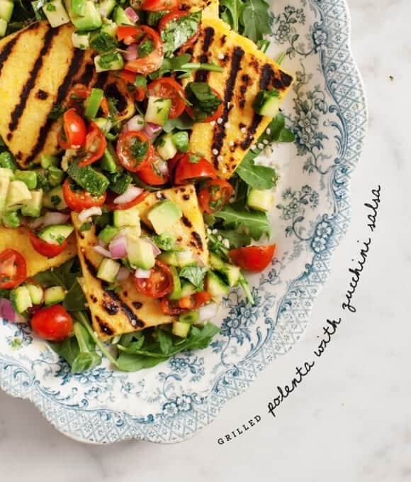 grilled polenta with zucchini salsa / loveandlemons.com