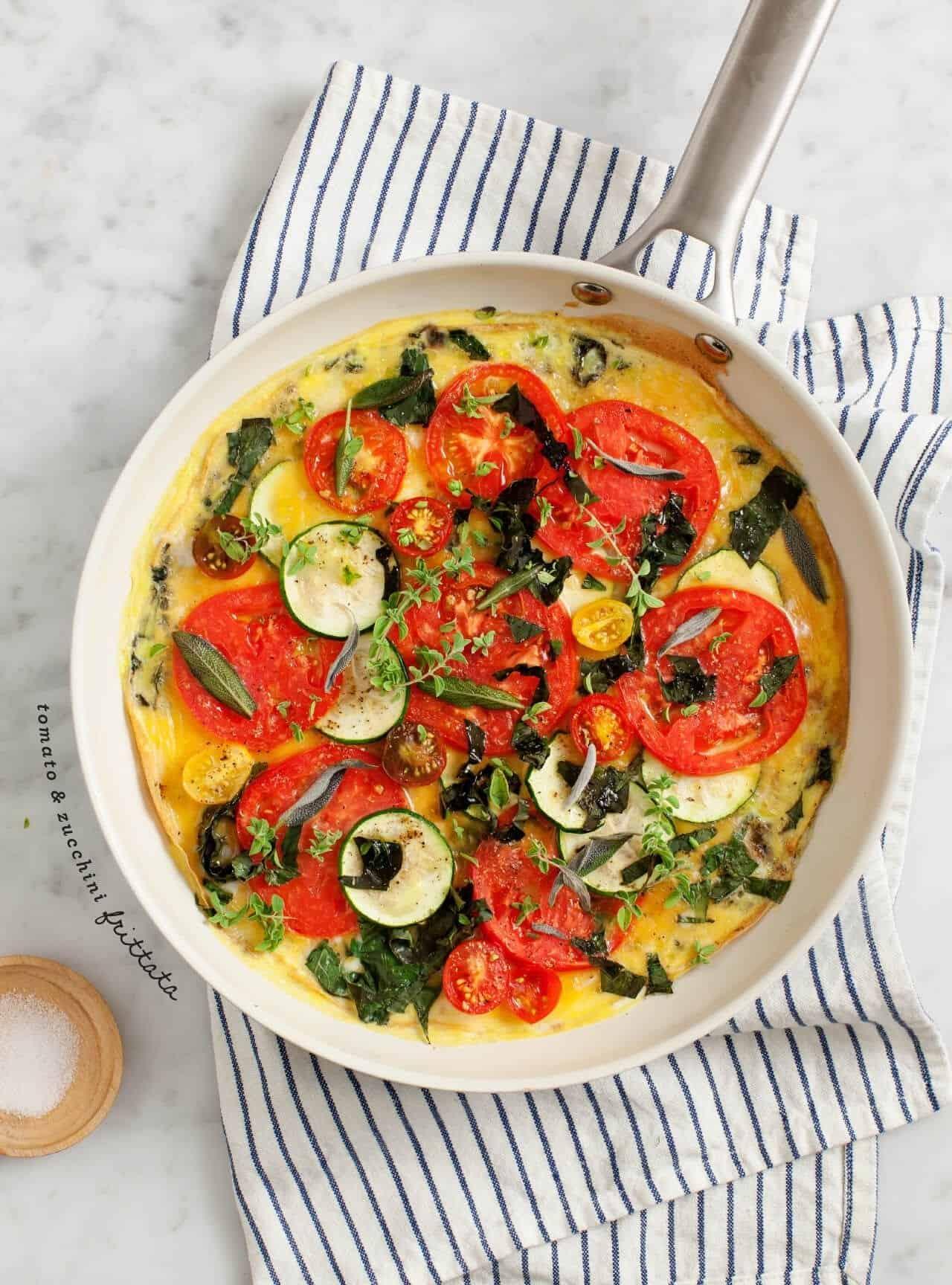 tomato and zucchini frittata