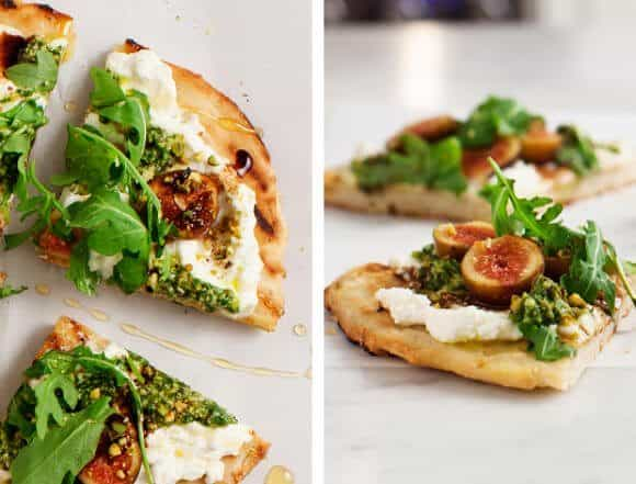 GlutenFree Fig & Ricotta Flatbread Pizza