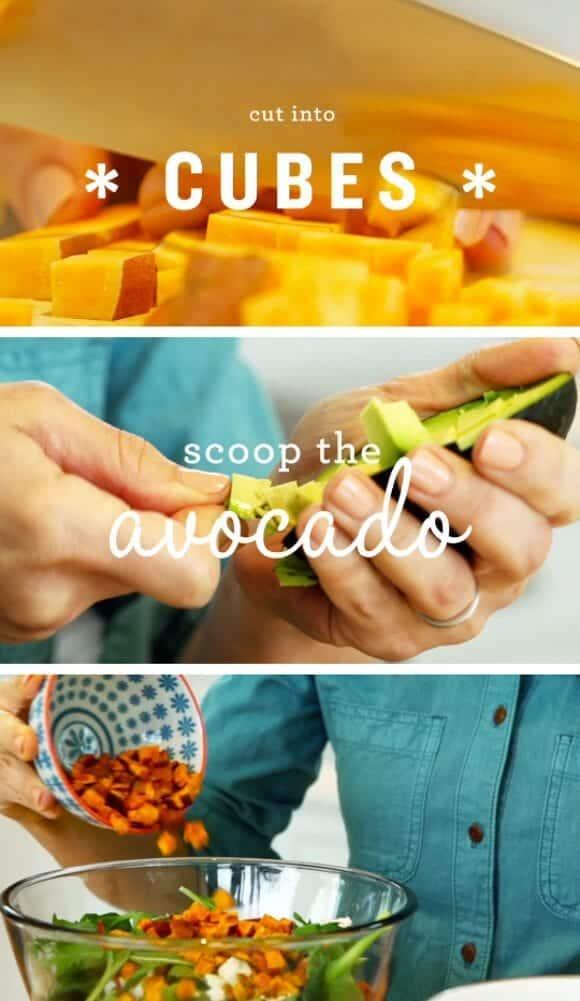 Roasted Sweet Potato Avocado Salad / @loveandlemons