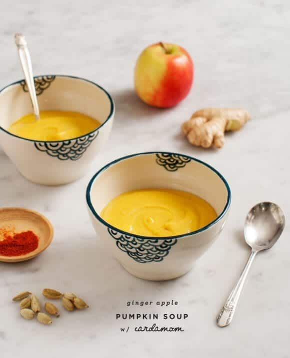 Ginger-Apple Pumpkin Soup (vegan) / @loveandlemons