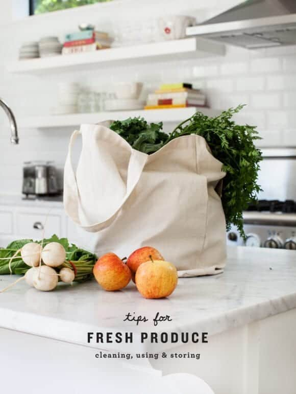 Fresh Produce Tips: cleaning, storing and using / @loveandlemons