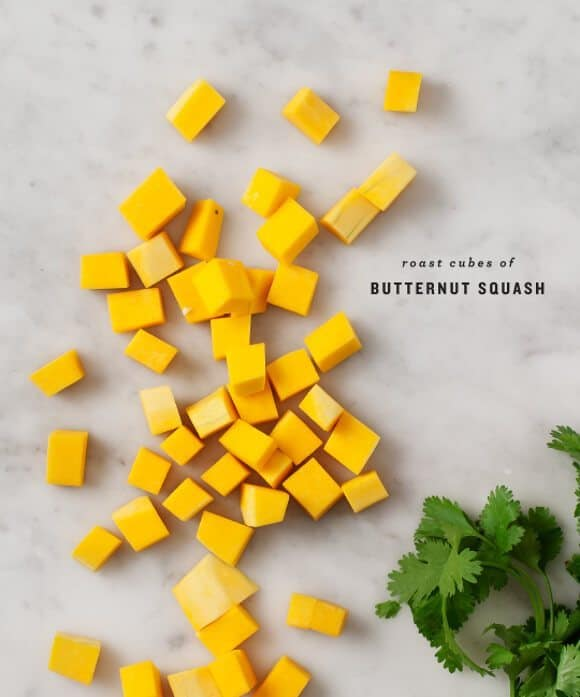 Butternut Squash Burrito Bowls ingredients