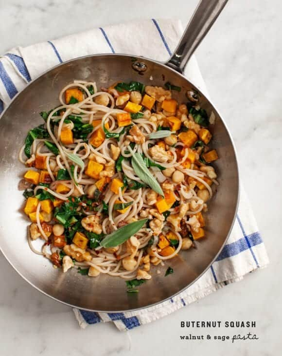 Butternut Squash, Walnut and Sage Pasta
