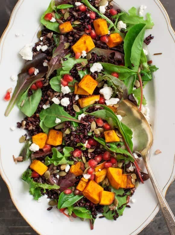 Forbidden Rice Pumpkin Salad w/ Blood Orange Vinaigrette