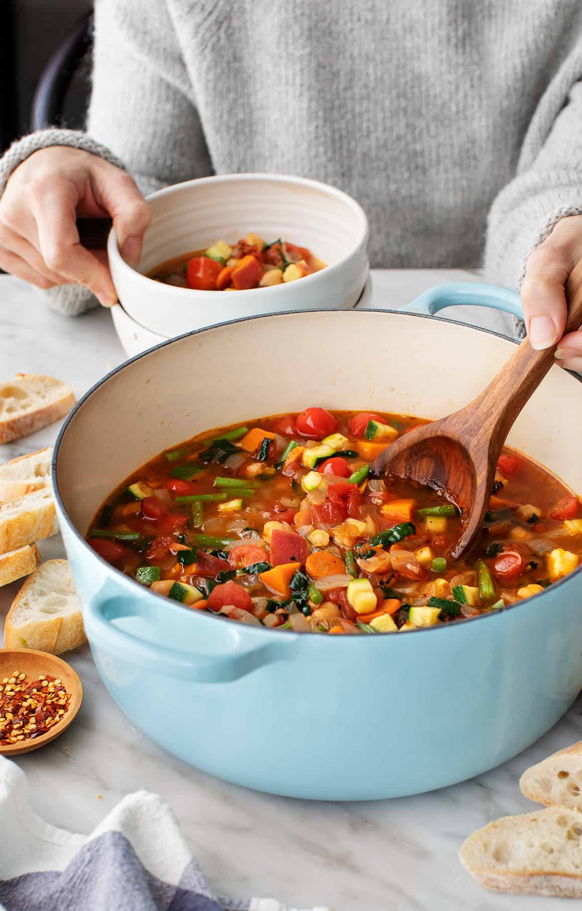 Many Veggie Vegetable Soup