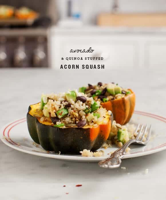 Avocado & Quinoa Stuffed Acorn Squash
