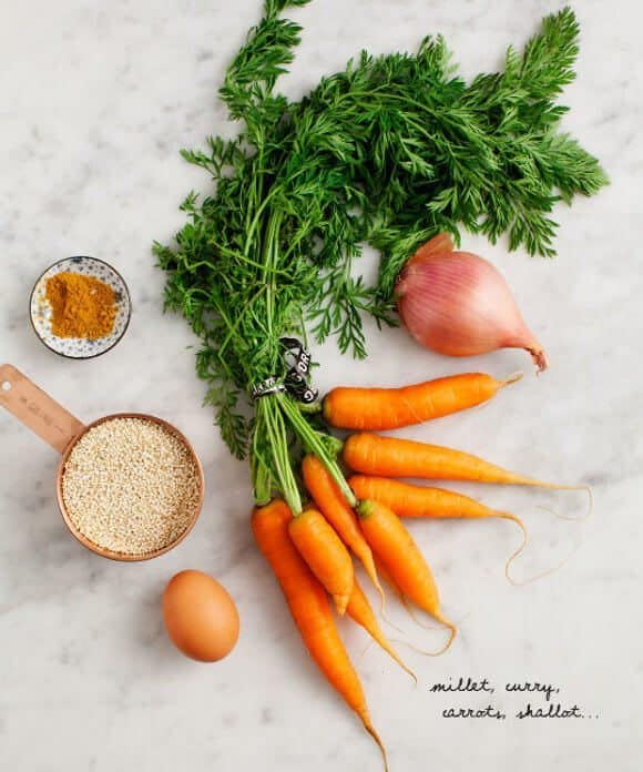 Millet Cakes with Spinach & Carrots / www.loveandlemons.com