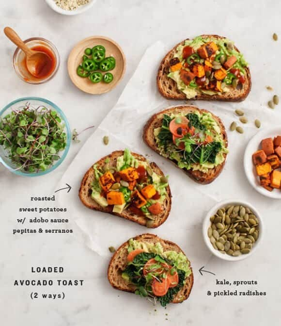 loaded sweet potato avocado toast recipe love and lemons