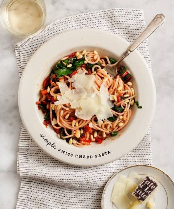Simple Swiss Chard Pasta