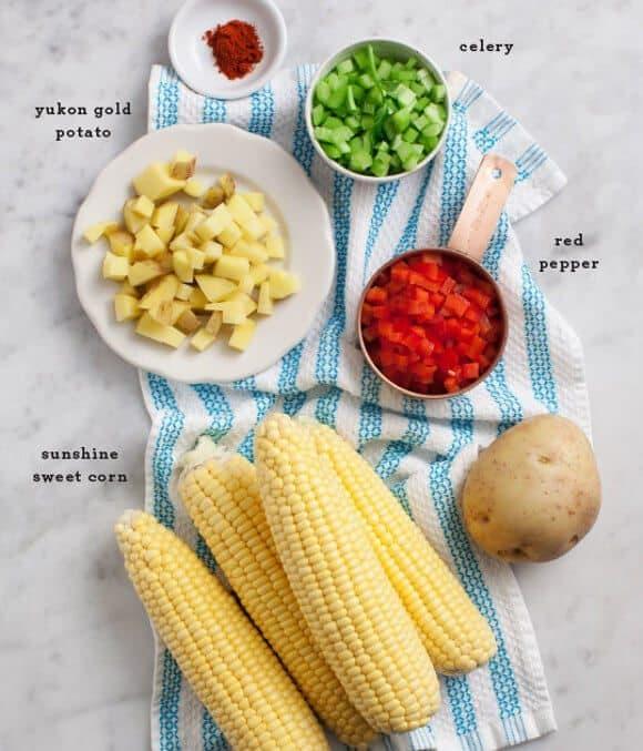 Creamy Vegan Corn Chowder / @loveandlemons