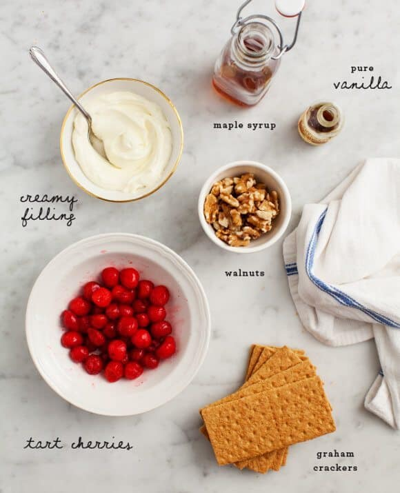 Tart Cherry Cheesecake Parfaits / loveandlemons.com