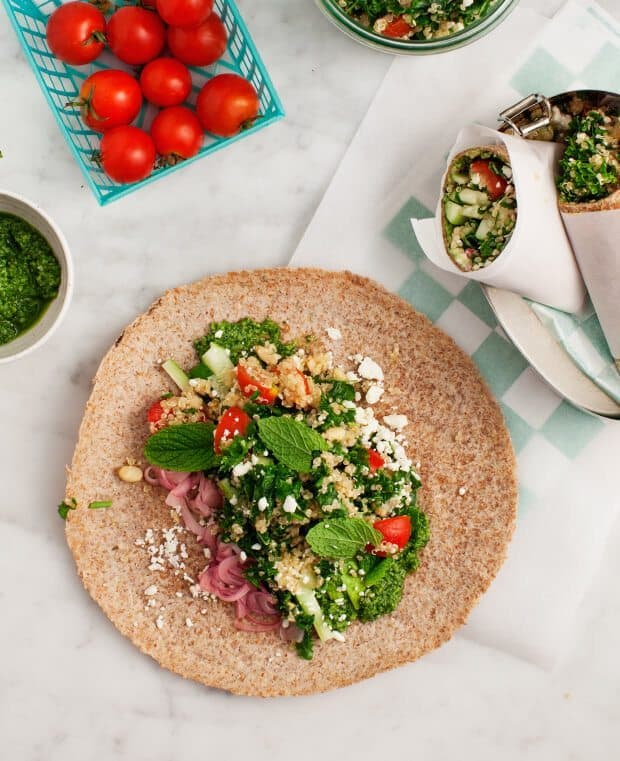 Picnic Wraps with Feta & Quinoa Salad / loveandlemons.com